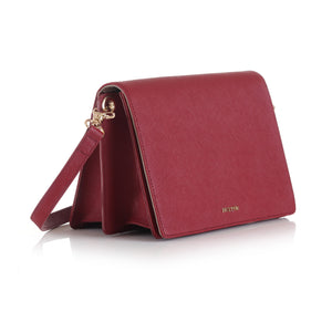 Rosy Front Flap Clutch