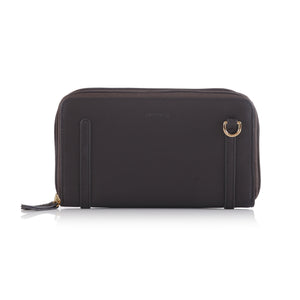 Double Zip Mini Long Wallet/ Clutch