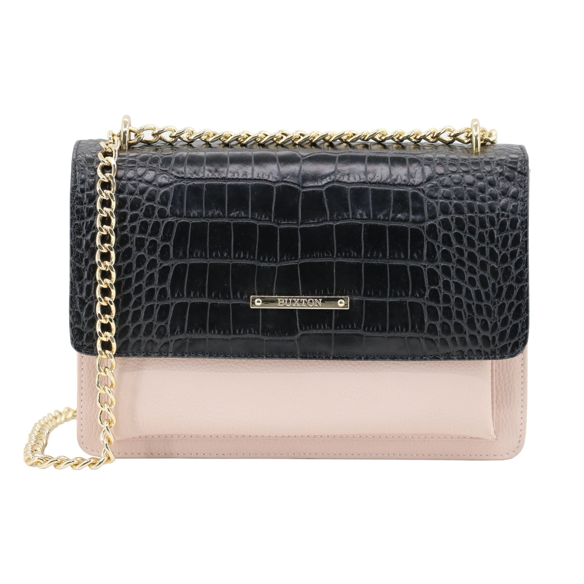 Faux Exotic Croco / Snake Shoulder Bag