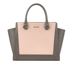 Two-Tone Classic Double Handle bag