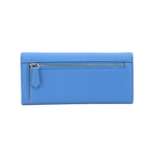 Long wallet with flap