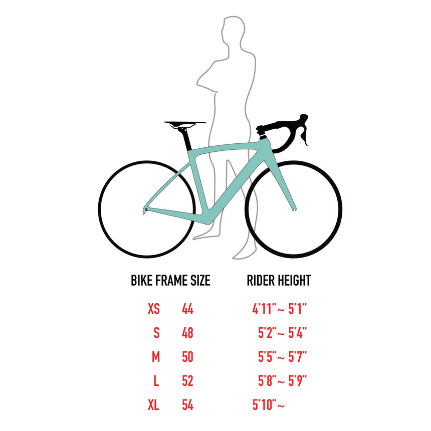 HeartsFit Model H – Carbon Frame Road Bike Kit