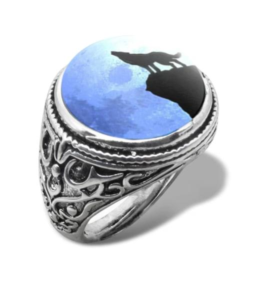 BAGUE LOUP - MOONWOLF - CABOCHON