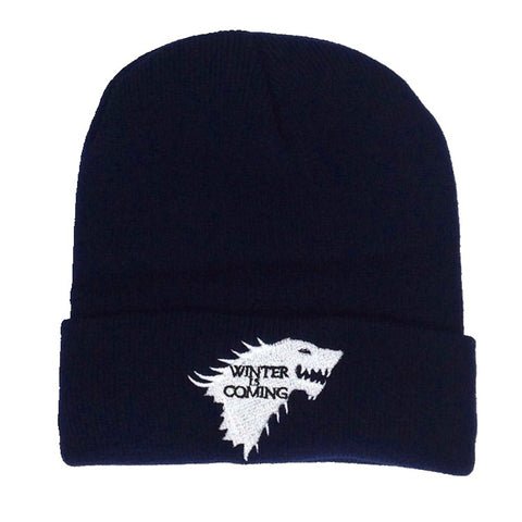BONNET LOUP BRODERIE UNISEXE WINTER IS COMING