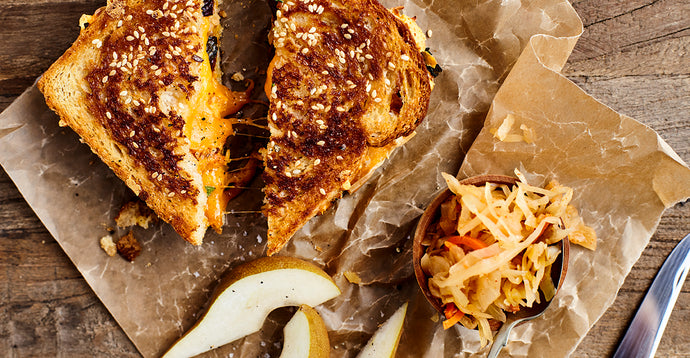 Grilled cheese fumé et kimchi