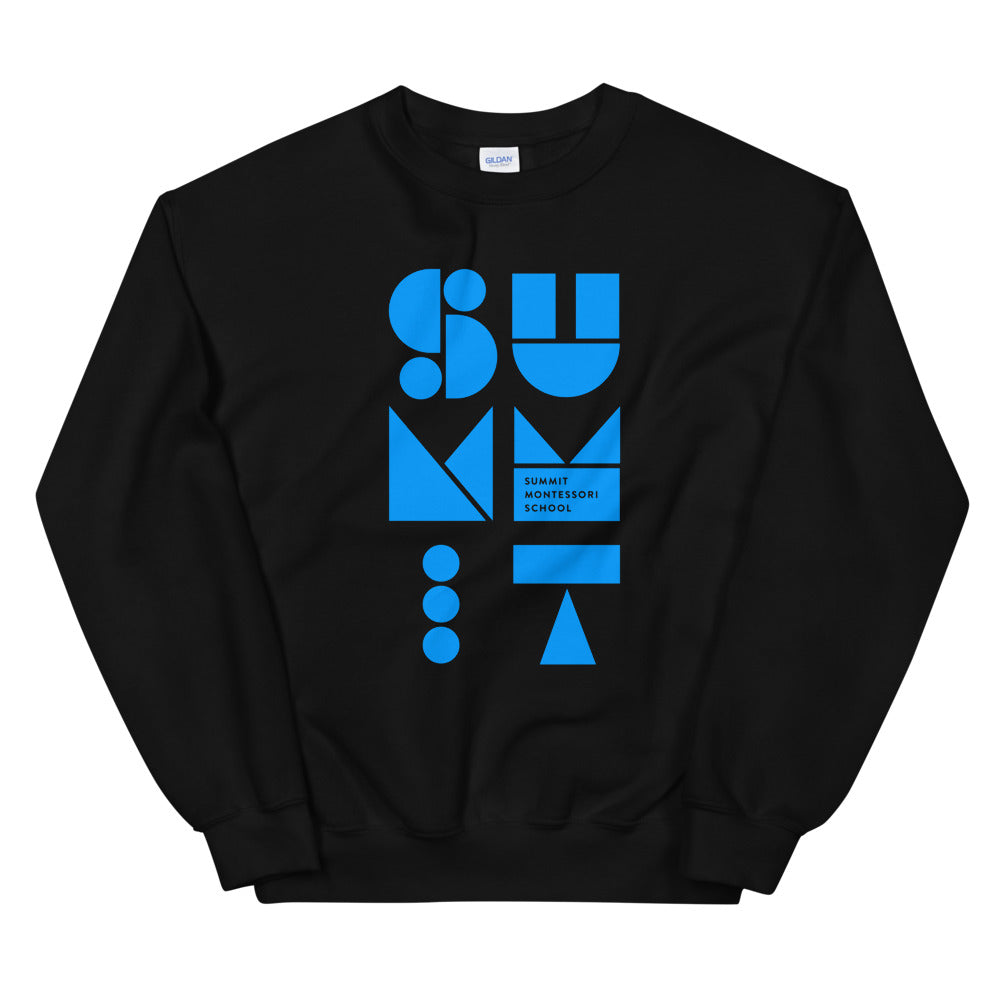 Stacked Shapes Adult Unisex Sweatshirt