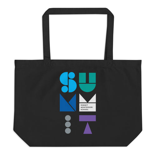 Stacked Shapes Large Organic Tote