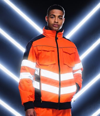 Regatta High Visibility Pro Contrast Bomber Jacket