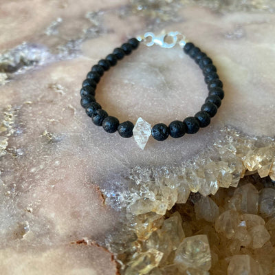 April birthstone healing crystal bracelet for boys
