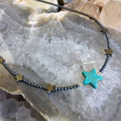 Sparkle Like A Star Kid's Necklace - Blue