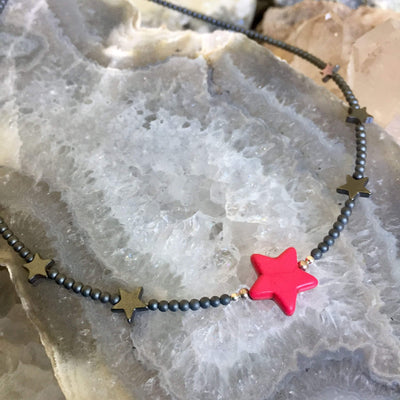 Sparkle Like A Star Kid's Necklace - Pink