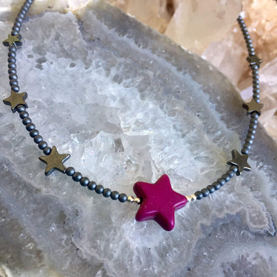 Sparkle Like A Star Kid's Necklace - Purple