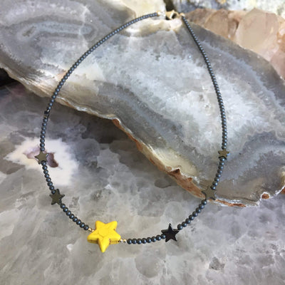 Sparkle Like A Star Yellow Kids Necklace