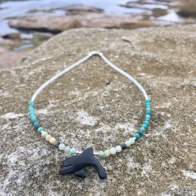 The Dolphin Amazonite and Chrysocolla Kids Necklace