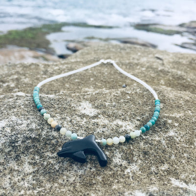 The Dolphin Chrysocolla & Amazonite Kids Necklace
