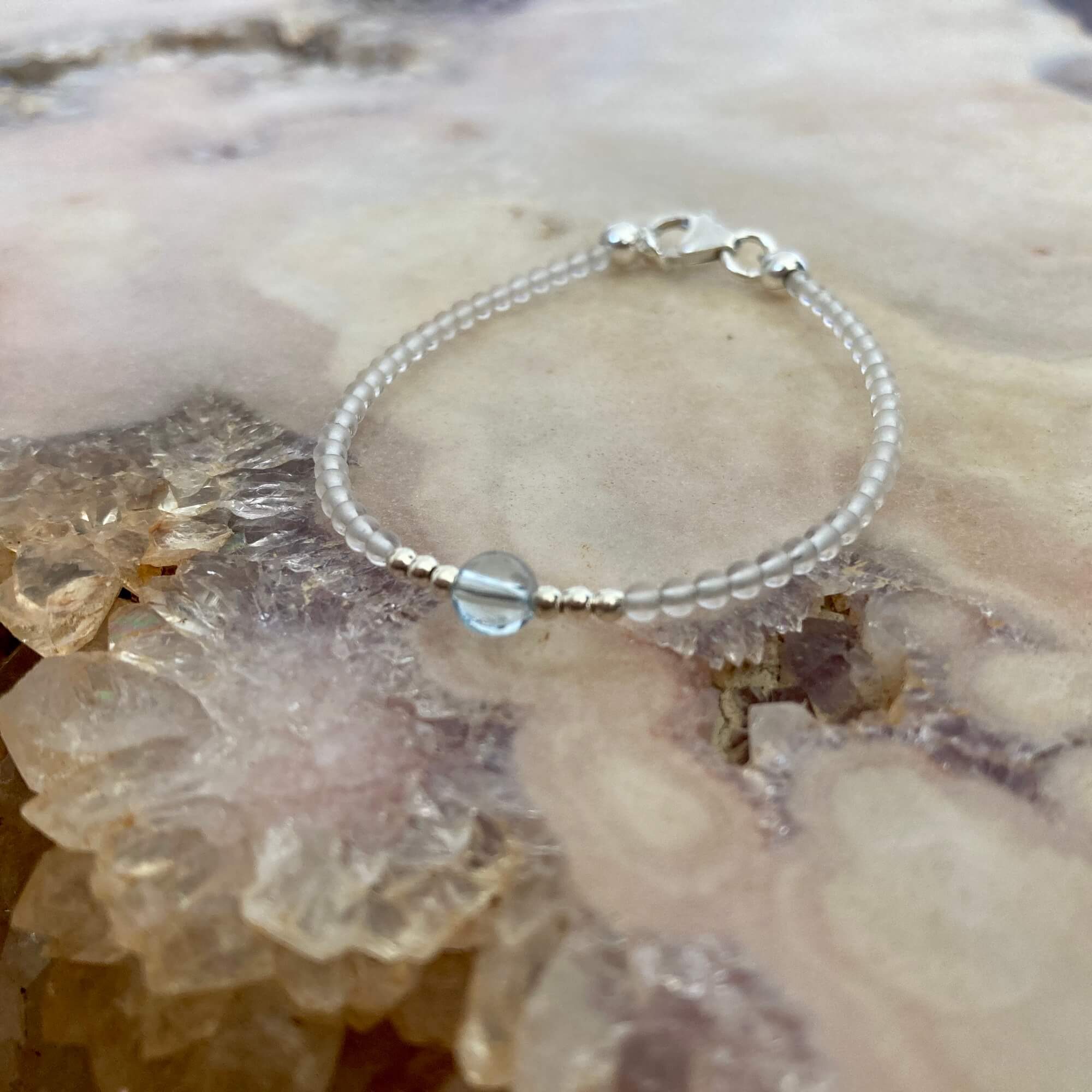 Topaz November birthstone girls bracelet