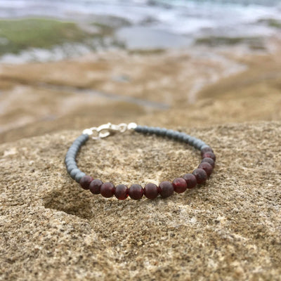 boys garnet january birthstone bracelet