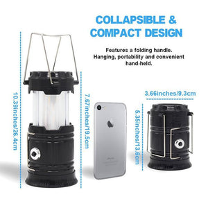 3-in-1 Camping Lantern,Portable Outdoor LED Flame Lantern Flashlights