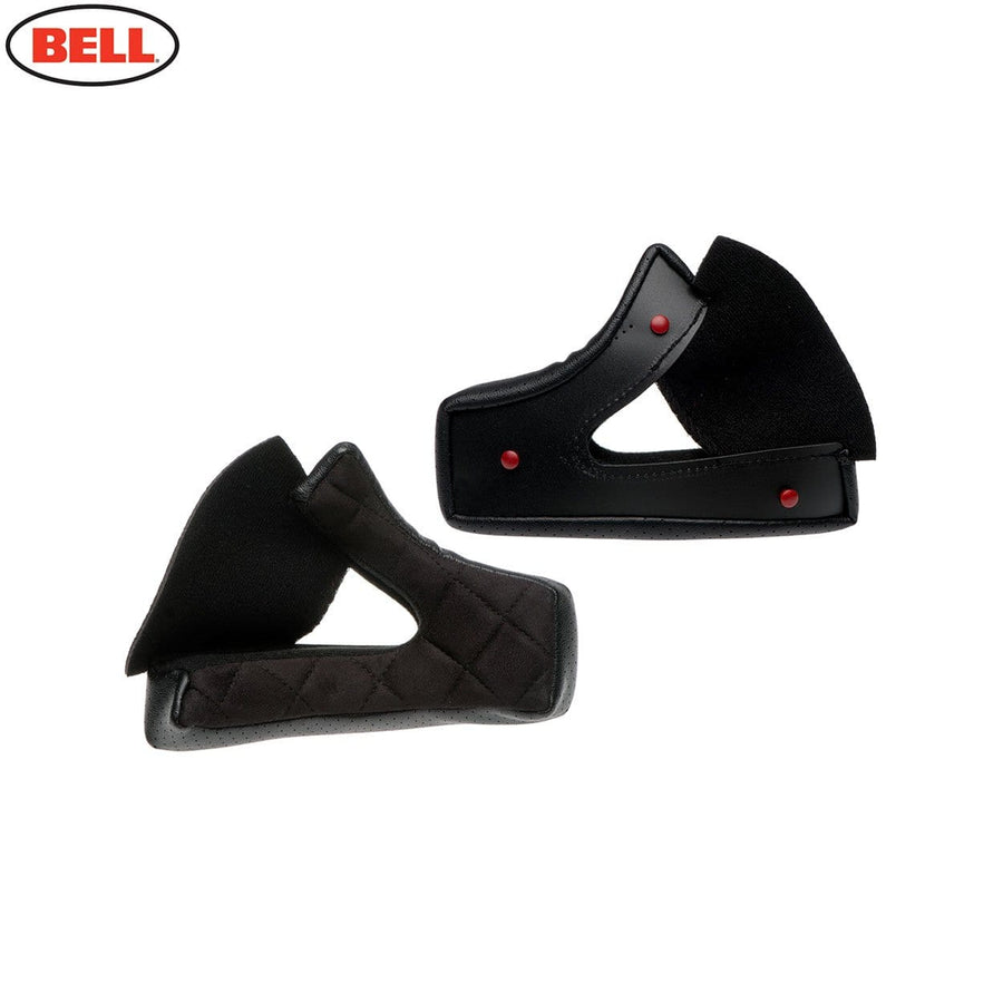 Bell Moto 3 Cheek Pad Set Leather in Black