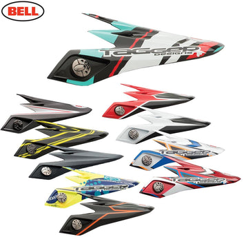 Bell Moto 9 Carbon Peak Tagger Clash Red