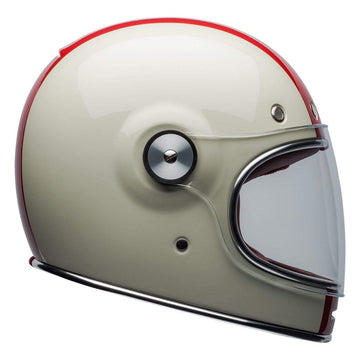 Bell 2020 Cruiser Bullitt DLX Adult Helmet in Command Vintage White / Red / Blue