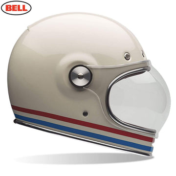 Bell 2020 Cruiser Bullitt DLX Adult Helmet in Stripes Pearl White