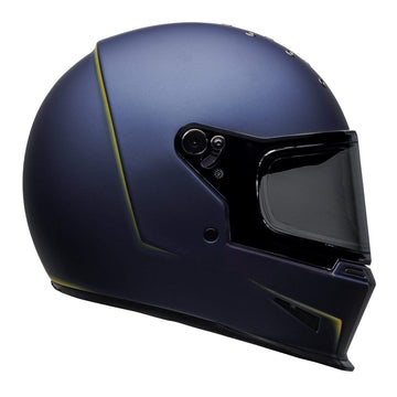 Bell 2020 Cruiser Eliminator Adult Helmet in Vanish Matte Blue / Yellow