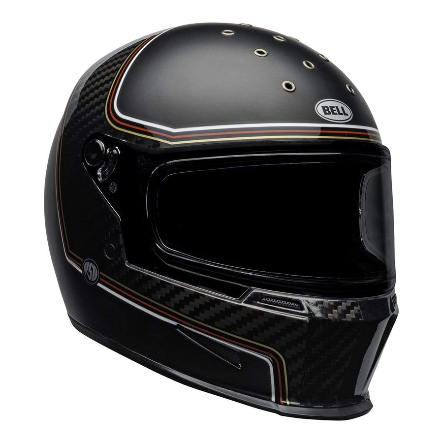 Bell 2020 Cruiser Eliminator Carbon Adult Helmet in RSD The Charge Helmet M / G Black
