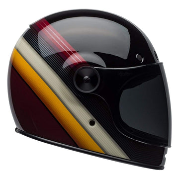 Bell Cruiser 2019 Bullitt DLX Adult Helmet in Burnout Black / White / Maroon