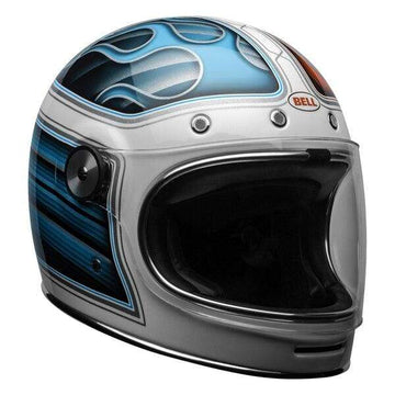 Bell Cruiser 2020.2 Bullitt DLX Helmet in Barracuda White / Red / Blue