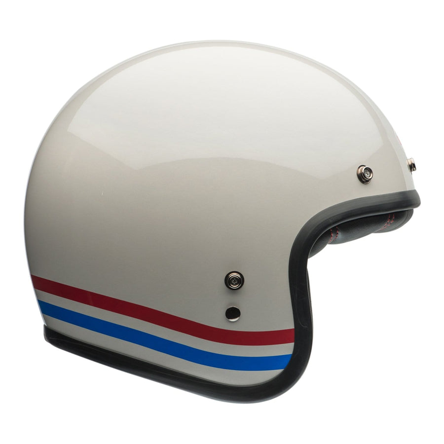 Bell Cruiser 2020 Custom 500 Adult Helmet in Stripes Pearl White