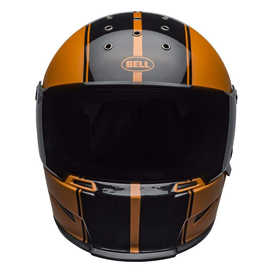 Bell Cruiser 2020 Eliminator Adult Helmet in Rally Matte / Gloss Black / Metallic Orange