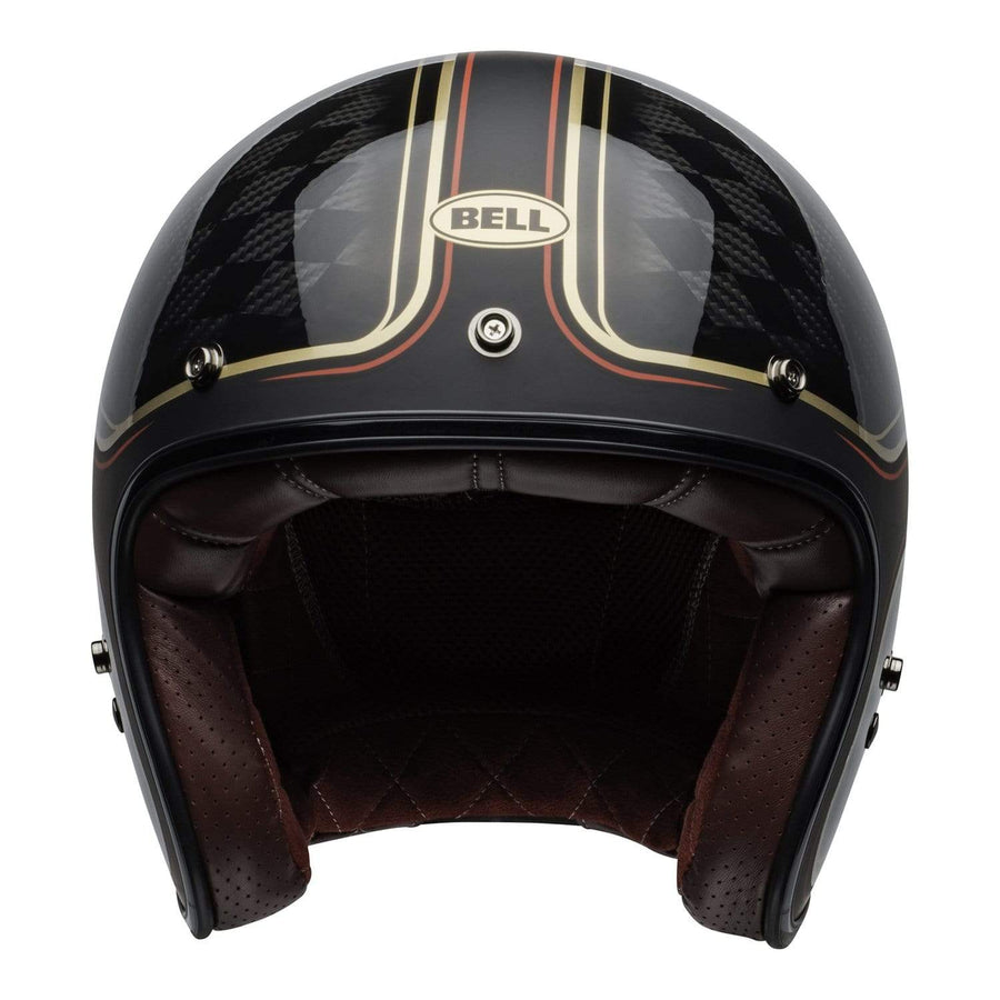 Bell Crusier 2020 Custom 500 Carbon Adult Helmet in RSD Checkmate M / G Black / Gold