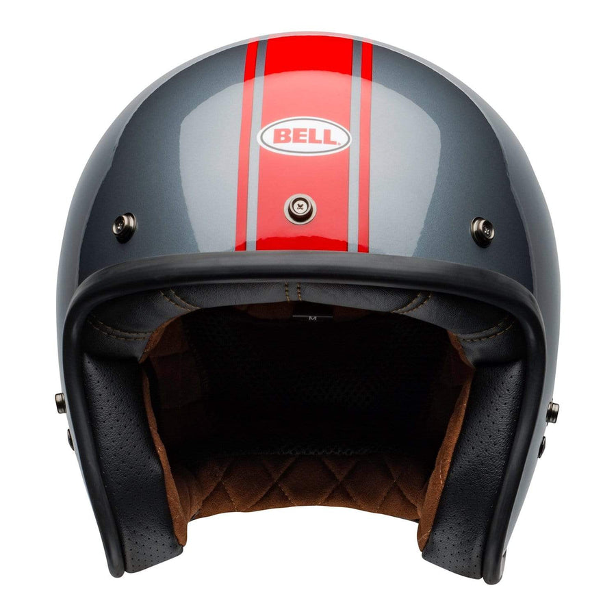 Bell Crusier 2020 Custom 500 DLX Adult Helmet in Rally Gloss Grey / Red