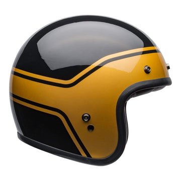 Bell Crusier 2020 Custom 500 DLX Adult Helmet in Streak Gloss Black / Gold