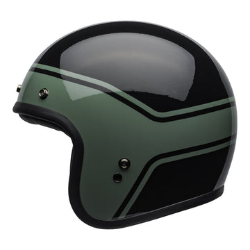 Bell Crusier 2020 Custom 500 DLX Adult Helmet in Streak Gloss Black / Green