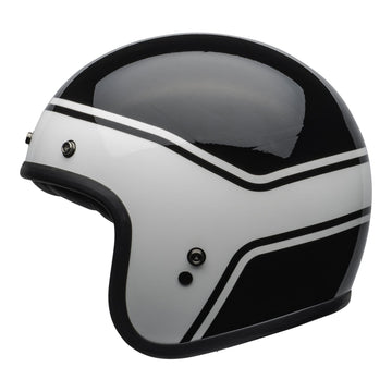 Bell Crusier 2020 Custom 500 DLX Adult Helmet in Streak Gloss Black / White