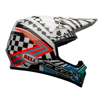 Bell MX 2020.1 MX-9 Mips Adult Helmet in Check Me Out White / Black