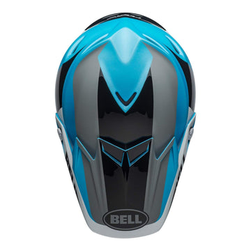 Bell MX 2020 Moto-9 Flex Adult Helmet in Division M / G White / Black / Blue