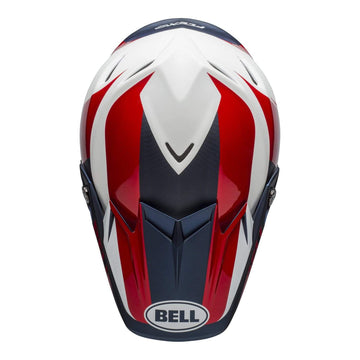 Bell MX 2020 Moto-9 Flex Adult Helmet in Division M / G White / Blue / Red