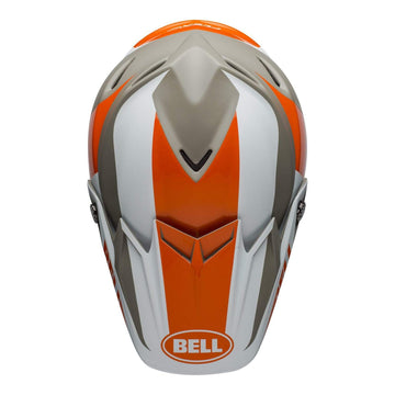 Bell MX 2020 Moto-9 Flex Adult Helmet in Division M / G White / Orange / Sand