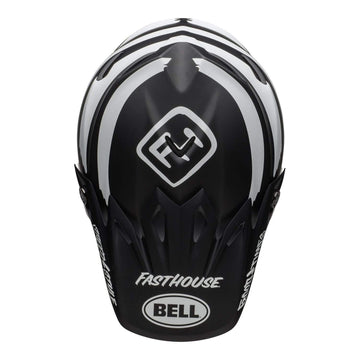 Bell MX 2020 Moto-9 Mips Adult Helmet in Fasthouse Signia Black / White