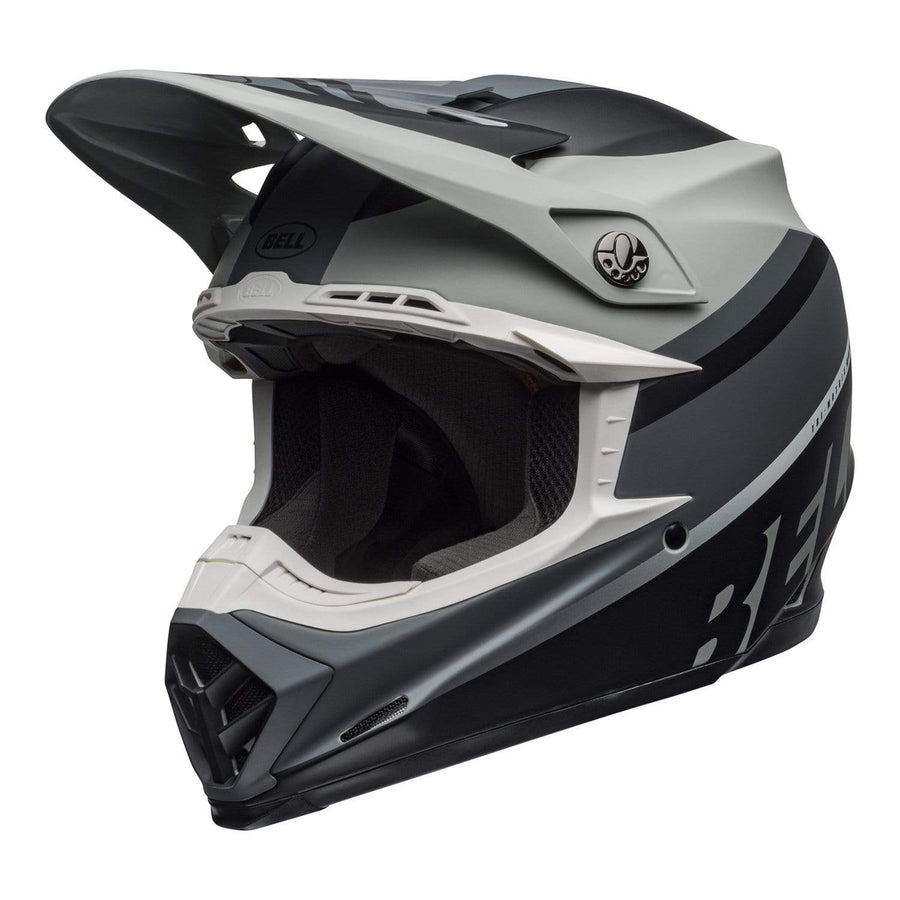 Bell MX 2020 Moto-9 Mips Adult Helmet in Prophecy Matte Gray / Black / White