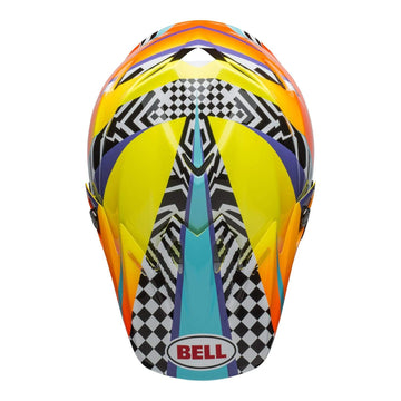 Bell MX 2020 Moto-9 Mips Adult Helmet in Tagger Breakout Orange / Yellow