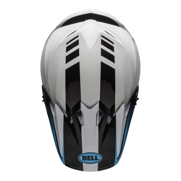 Bell MX 2020 MX-9 Mips Adult Helmet in Dash White / Blue