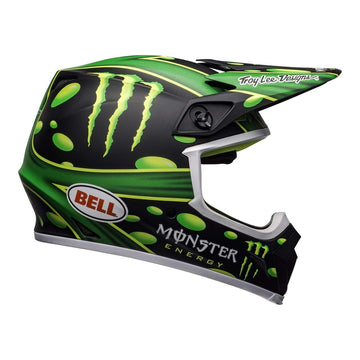 Bell MX 2020 MX-9 MIPS Adult Helmet in Mcgrath Showtime Black / Green