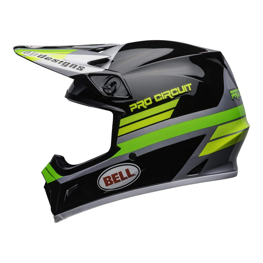 Bell MX 2020 MX-9 Mips Adult Helmet in PC Black / Green