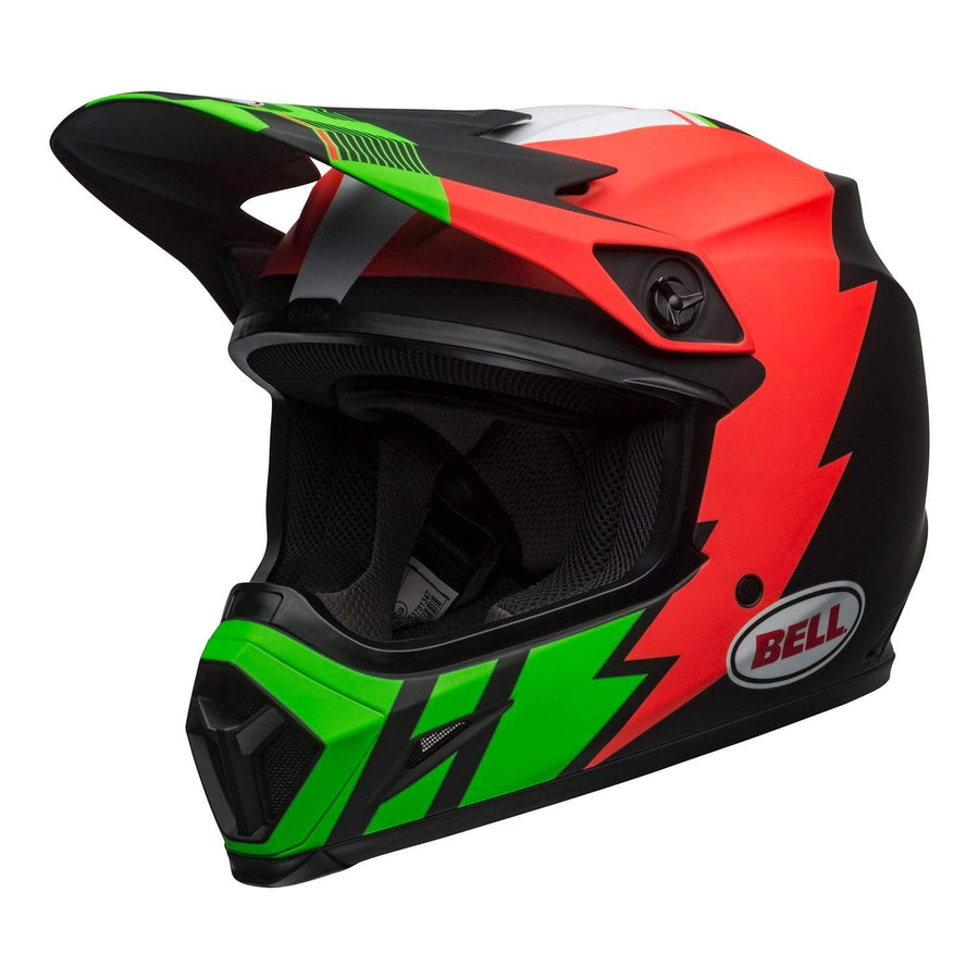 Bell MX 2020 MX-9 Mips Adult Helmet in Strike Matte Infrared / Green / Black