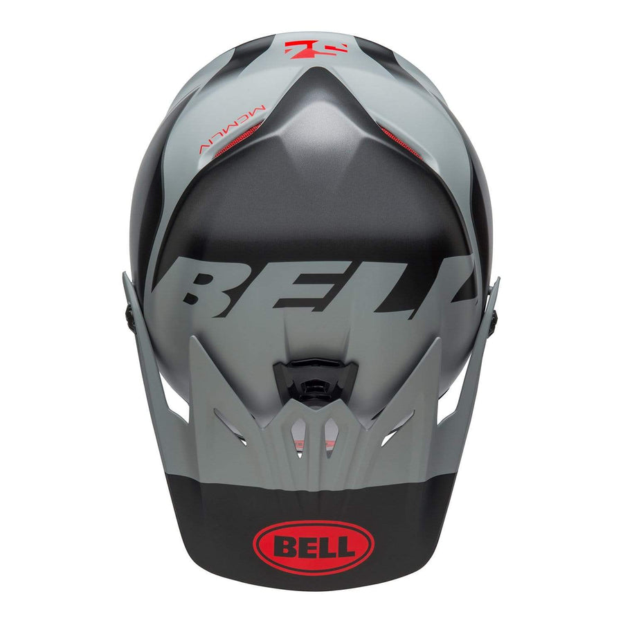 Bell MX 2020 Youth Moto-9 MIPS Helmet in Glory Matte Black / Gray / Crimson