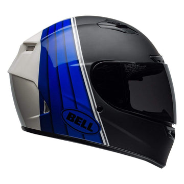 Bell Street 2019 Qualifier DLX Mips Adult Helmet in Illusion Black / Blue / White